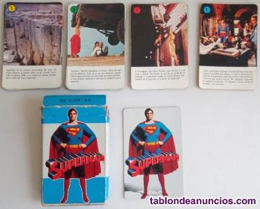 Baraja de cartas de Superman H. Fournier 1979 completa con caja e instrucciones