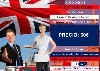 Curso online inglés para hostelería