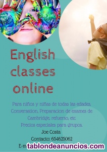 CLASES DE INGLES ONLINE. IMPROVE YOUR ENGLISH IN A FUN WAY!