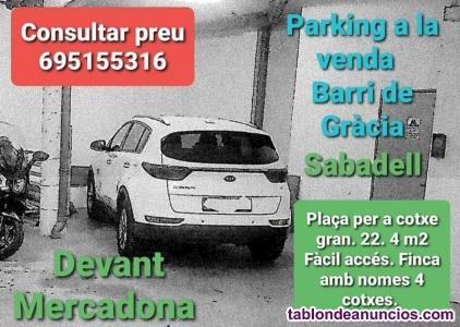 Vendo parking -  barri de gràcia -  sabadell