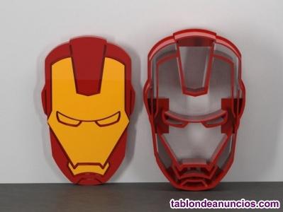 Kit de Cortador de  Galletas y masas con texturizador guia Iron Man (2 piezas)