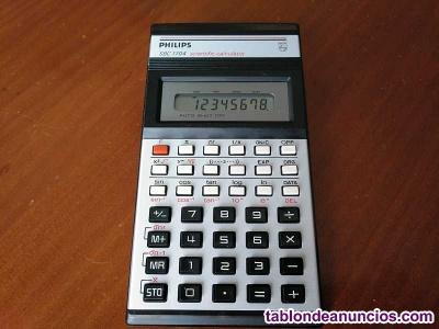 Calculadora philips sbc 1704 scientific calculator funcionando, de los años 80 s