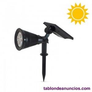 Foco Solar con pincho para jardín 2W