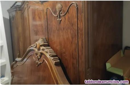 Conjunto dormitorio antiguo, ropero y cabecero