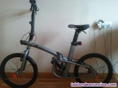 Vendo bicicleta plegable de marca b'twin