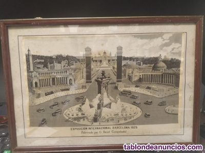 Cuadro antiguo barcelona 1929