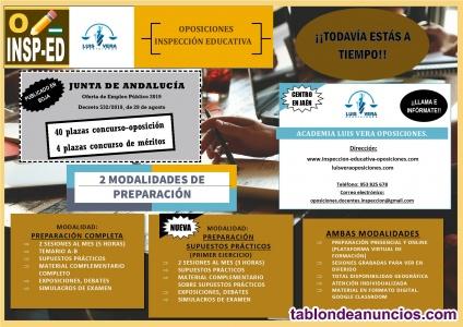 Inspección educativa oposiciones andalucía