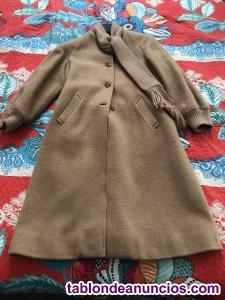 Abrigo vintage de invierno, color camel