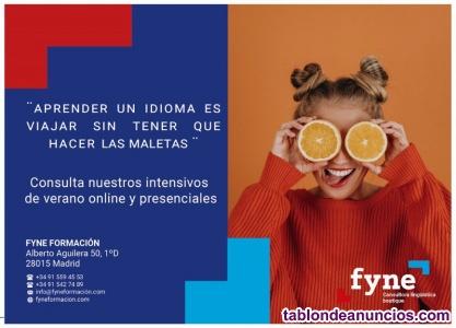 Intensivos online Inglés Junio-Julio-Agosto 2020 6,5€ hora