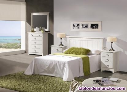 Dormitorio lacado nuevo de fabrica