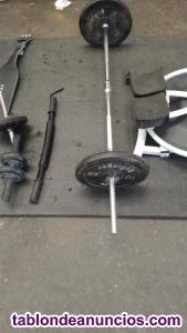 Conjunto de objetos para hacer deportes