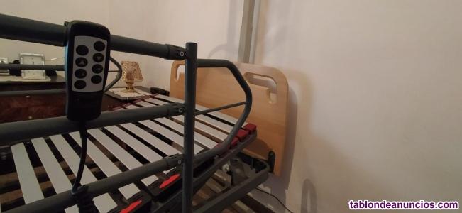 Cama articulada Geriátrica + Juego de barandillas + Trapecio incorporador