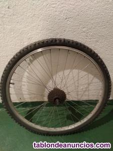 Vendo rueda trasera de bicicleta.