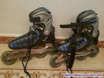 Vendo patines con ruedas professional-casi nuevo