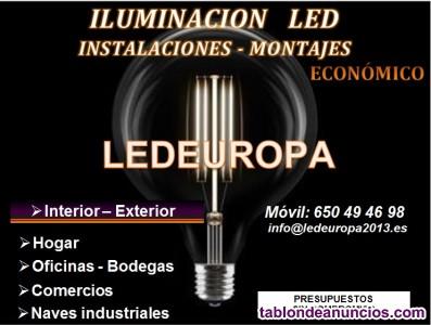 Iluminación led - instalaciones - montajes