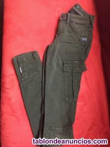 Pantalón mujer G-Star color oliva
