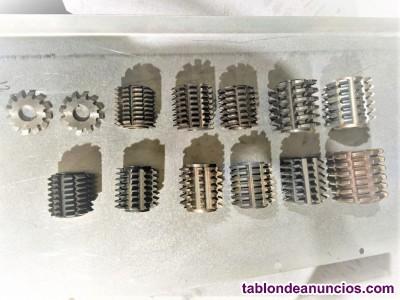 15-Fresas madre: Modulos para piñones y para cadenas.