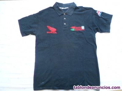 Camiseta moto oficial honda-castrol mundial de sbk