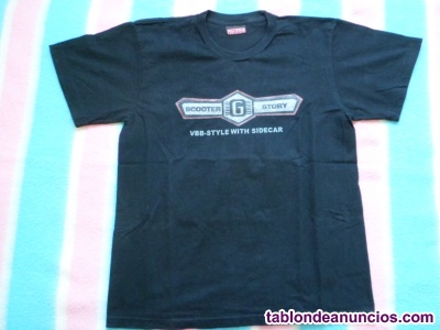 Camiseta moto vespa con sidecar