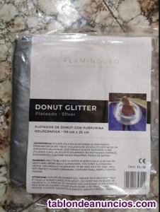 Flotador Donut con polvos plateados