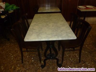 Mesas de jardín hierro y marmol