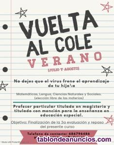 Clases particulares de verano (primaria y secundaria) Badajoz