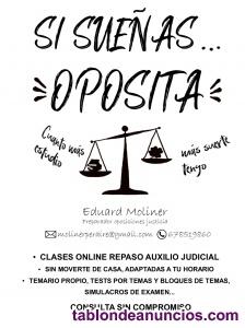 Preparador oposiciones justicia online