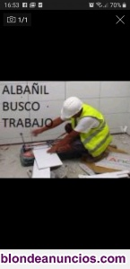Busco trabajo de albanil