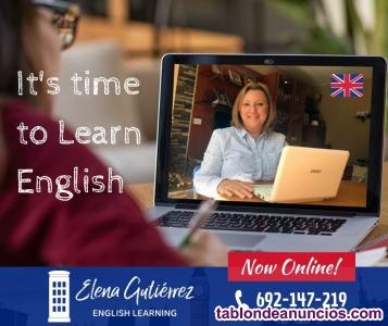 Profesora de inglés con mucha experiencia y Advance da clases online, presencial