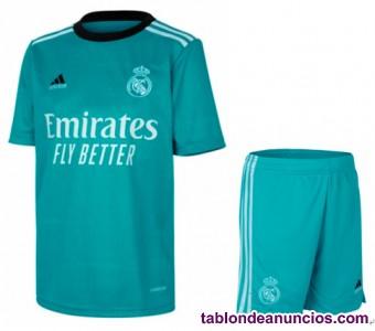 Real Madrid 2021 ninos camiseta y shorts