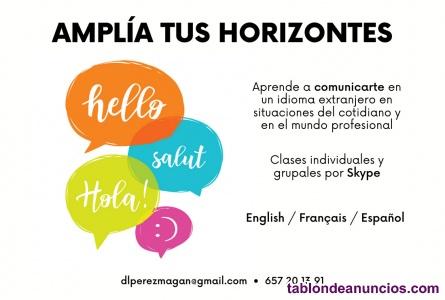 ¡Aprende inglés o francés online!