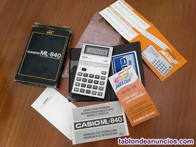 Calculadora casio melody ml-840 musical electronic calculator made in japan. Com