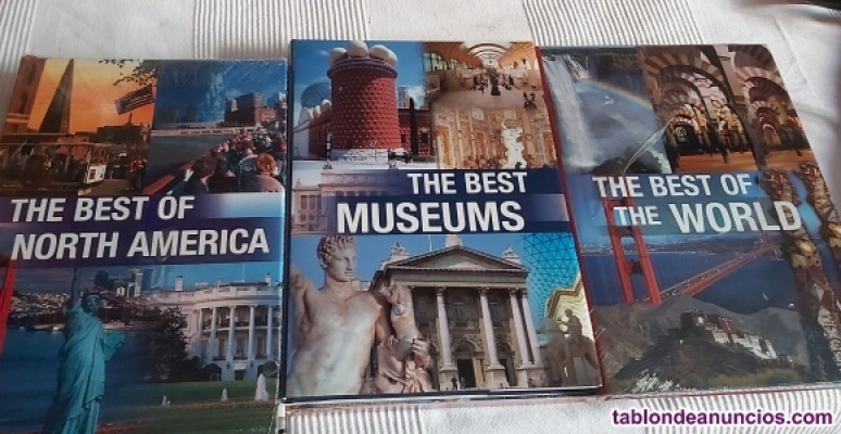 Vendo libros de ciudades, museos