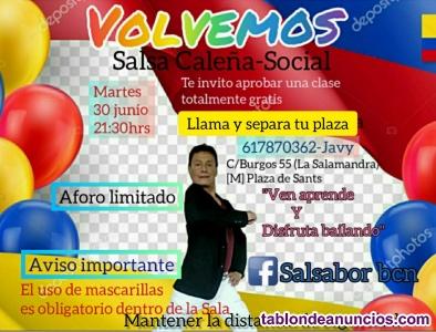 Clase  de salsa caleña- social 2021