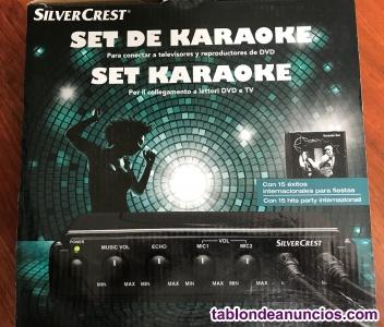 Set de Karaoke micrófono, altavoz y CDs SilverCrest