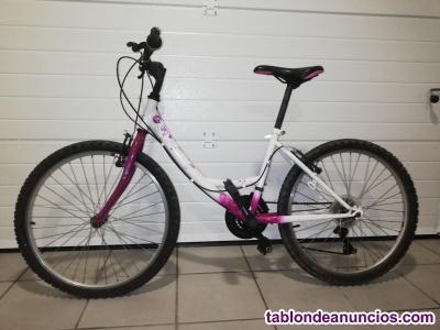Bicicleta de niña de 24 pulgadas.