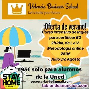 Curso Acelerado 4 semanas Ingles  Certificacion B2 o B1.Valencia Business School