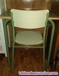 Vendo mesa de estudio con silla