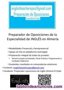 Preparador de Oposiciones Secundaria Inglés Andalucía 2021