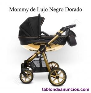 Carrito de bebé dorado Moomy de lujo