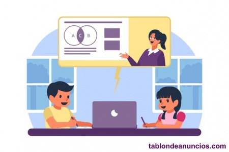 Maestra de primaria imparte clases online de apoyo escolar
