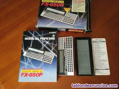 Calculadora casio fx-850p personal computer scientific library 116 funcionando a