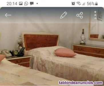 Dormitorio vintage se vende el conjunto o suelto