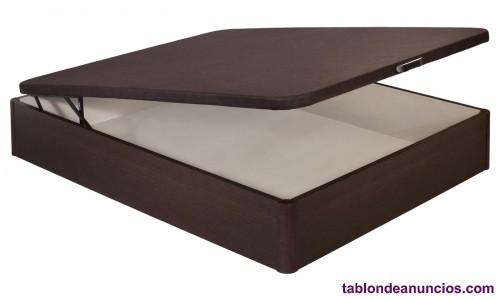 Canapé abatible con base tapizada para colchón de 90x190 y otro para 90x200