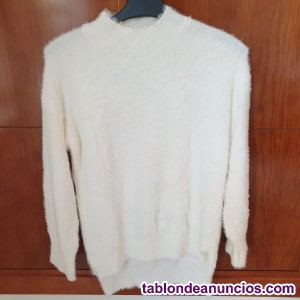 Jersey de angora color blanco roto