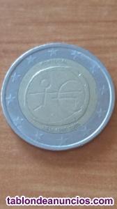 Moneda 2 euros 10 años de la UEM