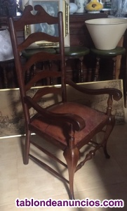 Antigua silla inglesa de escritorio