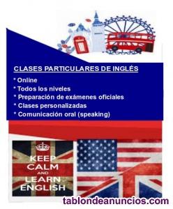 Clases particulares online de inglés