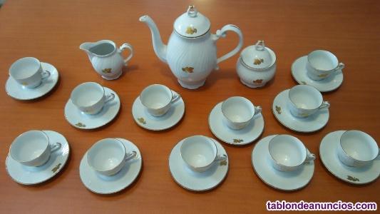 Juego café - té porcelana, 11 servicios