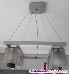 Lámpara salon 4 focos.